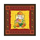 Lord Ganesha digital print on canvas with wooden frame for wall decor best use for living bed room interior design