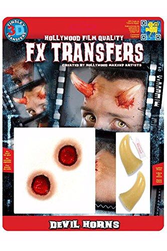 Tinsley Trasferibili Devil Horns Halloween FX Make Up