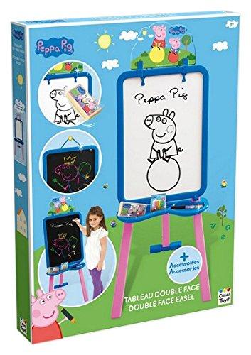 Peppa Pig - Caballete con doble tablero y accesorios