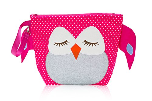 Nikiani Forever Young Collection Wet Bag & Backpack - Pink Polka Dot Owl - 1