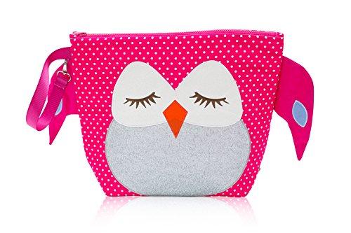 Nikiani Forever Young Collection Wet Bag & Backpack - Pink Polka Dot Owl