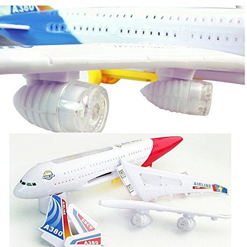 Eonkoo New 3D Flashing Lights and Sound Electric Plane toy,Great Simulation Battery Airplane Changes Directions on Its Own for Child Gift (Remote Control Air Plain compare prices)
