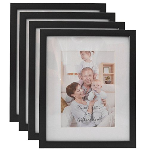 Giftgarden 6 by 8 inch Wall Hanging Picture Frame PVC lens for Home Decor Photo 6x8, Set of 4 pc (8x6 Picture Frame compare prices)