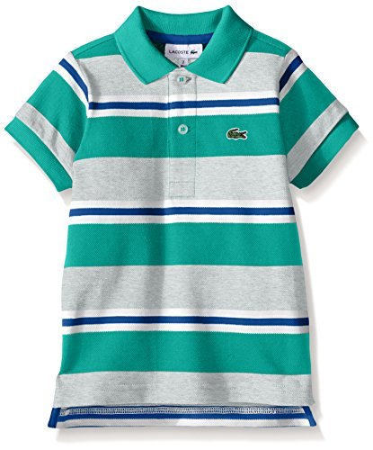 2285d9ca Lacoste Boys' Short Sleeve Striped Mini Pique Polo Shirt - Import It All
