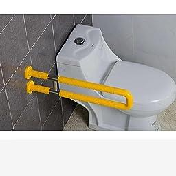UZI-Old man\'s intimate gift 600MM600MM140MM handrail barrier-free handrail for bathroom Bathroom handrail , Yellow
