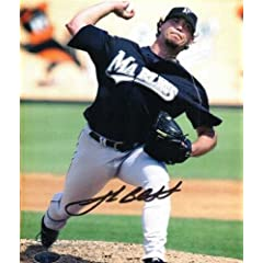 Autographed Hand Signed Josh Beckett 8x10 8x10 Photo Florida Marlins