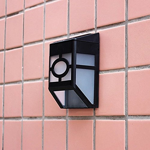 Wall Mounted Accent Lights : KAPATA Wall Mount 2-LED Mission-Style Solar Deck Accent Lights Cool White for Home Light Outdoor ...