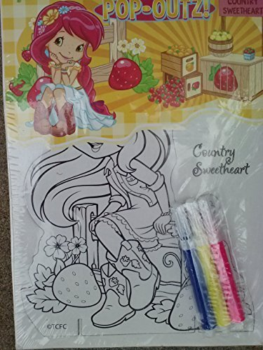 Strawberry Shortcake Pop-Outz! Color & Play Activity Board with Markers - 1