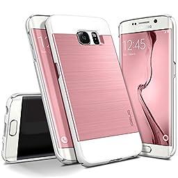 Galaxy S6 Edge Case, OBLIQ [Slim Meta][Metallic Pink] Thin Slim Fit Scratch Resist Metallic Polycarbonate Finish Dual Layered Hard Protection High Quality Cover