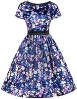 Lindy Bop 'Jaci' Vintage 1950 De Style D'impression Florale Evasée Rétro Thé Robe