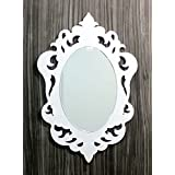 MIRALL DECOR DECORATIVE HAND CARVED OVAL WALL MIRROR