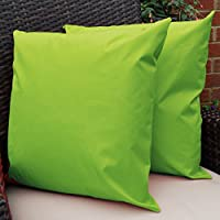 Waterproof Garden Cushions for Chairs - Cane Filled Cushions for Seats and Benches - Colourful Outdoor Cushion (6, Lime Green) from Comfort Co®