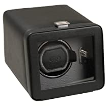 Wolf Designs Module 2.5 Windsor Single Watch Winder with Cover, Black