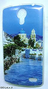 Soft Fancy Back Cover For Intex Cloud Glory 4G - City Design