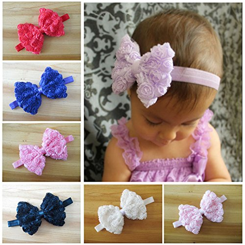 HYS Fashion Lot of 40 Lovely Baby Girl Hairband Color Headbands