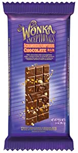 Wonka Exceptionals Chocolate Bars, Scrumdiddlyumptious Chocolate Bar, 3.5-Ounce (Pack of 12)