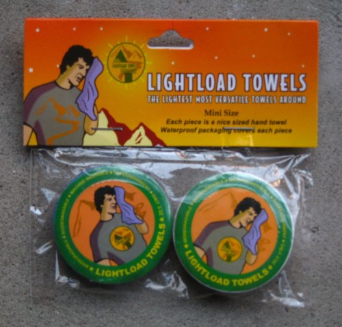 Lightload Towels Two Pack(each 30x30cm) The Only Towels That Are Life Savers!