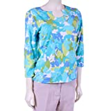 3/4 Sleeve Print Top by Ruby Rd.