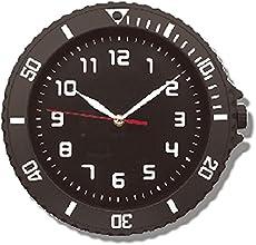 腕時計型が おしゃれな ウォッチスタイル クロック (連続秒針) ブラック    97952