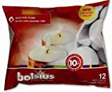 Bolsius Outdoor/Indoor Maxilight Tealight 10 Hour 16x38mm (Bag of 12) - White