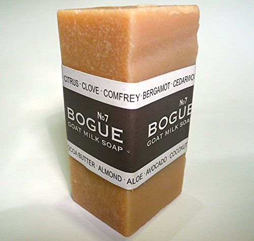 Bogue Milk Soap, No.7 Goat Milk Bar With Cedarwood, Myrrh, Lavender, & Rosemary-4.25Oz (A Walk On The Beach)