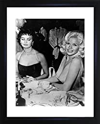 Jayne Mansfield And Sophia Loren Framed Photo