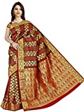 Brindavan Emboss Design Poly Silk Rich Pallu Party Wear Saree with Embellished Stone (1989embstn06)