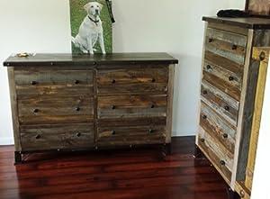 South Shore Vintage Cherry Queen Wood Platform Bed 4 Piece Bedroom Set