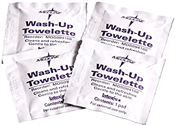 """Antiseptic Towelettes - Wash Up Towelettes, 5 1/2"""" x 8"""", BZK 1:750 and 5% Alcohol - 1,000 Per Case - Model MDS094188"""