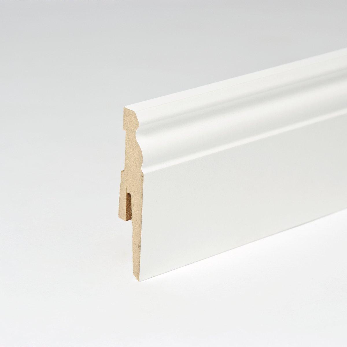 50m Sockelleisten Berliner Profil 80mm All Inclusive Paket Weiß  BaumarktKundenbewertung und weitere Informationen