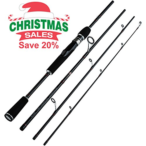 Christmas-Sales-Piscifun-Graphite-Spinning-Fishing-Rod-4-Pieces-Travel-Pole