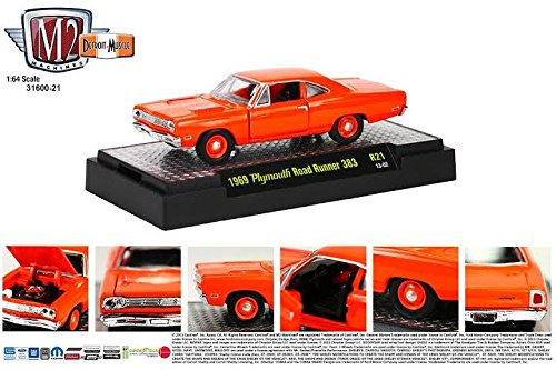 1969 Plymouth Road Runner 383 (13-02) * M2 Machines Detroit Muscle Release 21 * 2013 Castline Premium Edition 1:64 Scale Die-Cast Vehicle Set (Limited To 5,000 Pieces World Wide)