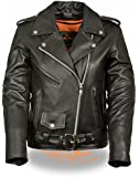 Milwaukee Leather Ladies Classic Style Motorcycle Jacket w/ Zip Out Liner (XX-Large) (Medium)