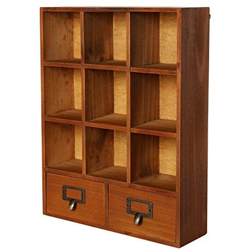 mygift-estanteria-de-pared-de-madera-independiente-estantes-y-2-cajones