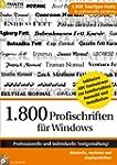1.800 Profischriften f�r Windows mit...