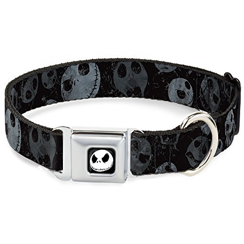 disney-nbc-jack-expressions-scattered-weathered-buckle-clip-dog-collar-15-fits-18-32-neck-multicolor