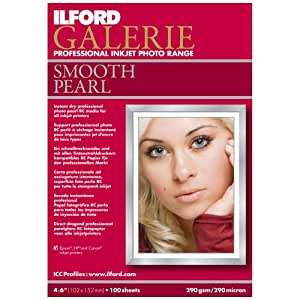 Ilford Galerie 4 x 6 Inch Smooth Pearl Paper 100 Sheets (1141216)