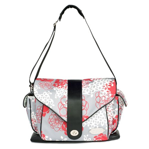 JJ Cole Myla Diaper Bag, Cherry Lotus (Discontinued by Manufacturer) - 1