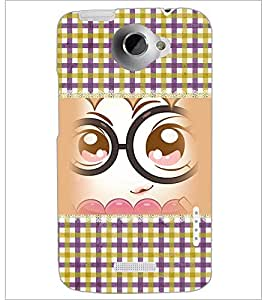 PrintDhaba Cartoon D-4101 Back Case Cover for HTC ONE X (Multi-Coloured)