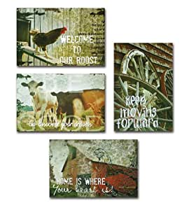 Melrose international farm wall art set of 4 for International wall decor