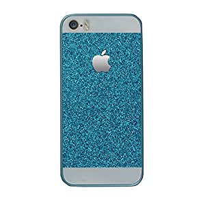 IPHONE 5S GLITTER BLUE BACK COVER