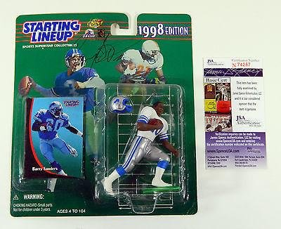 1998 Starting Lineup Barry Sanders Signed Collectible New Auto Lions NIP - JSA Certified - Autographed NFL Figurines (Barry Sanders Auto compare prices)
