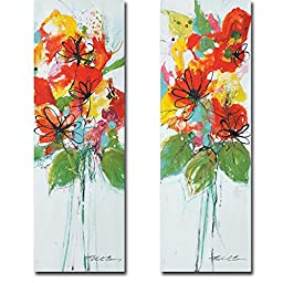 Sensations I & II by Natasha Barnes 2-pc Premium Gallery-Wrapped Canvas Giclee Art Set (Ready-to-Hang)