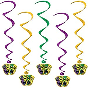 Mardi Gras Whirls Party Accessory (1 count) (5/Pkg)