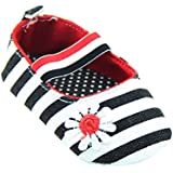 Weixinbuy Baby Girl's Cotton Polka Dot Walking Soft Sole Crib Shoes