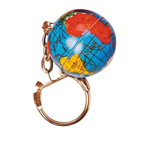 US Toy Planet Earth Theme Keychain Rings Toy (Lot of 12)