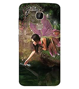 ColourCraft Lovely Angel Design Back Case Cover for LeEco Le 2 Pro