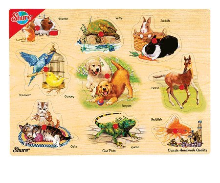 Cheap Fun Shure Our Pets Wooden Pegged Puzzle (B001FE2ZUS)