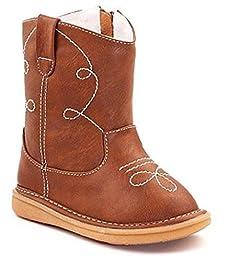 Wee Squeak Baby Brown Cowboy Boot 5T