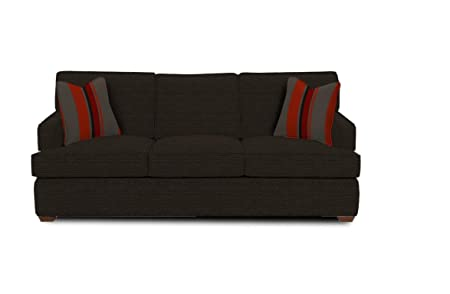Klaussner Loomis Sofa, 86 by 39 by 30-Inch, Charcoal